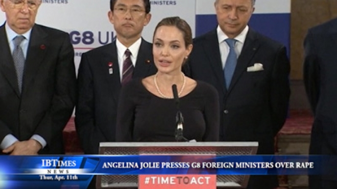 Angelina Jolie Presses G8 Foreign Ministers Over Warzone Rape