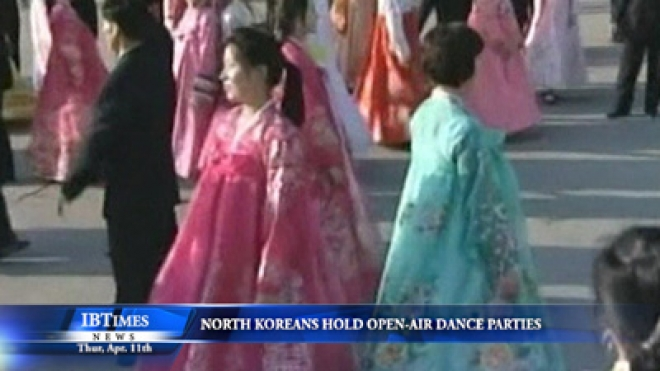 North Koreans Hold Open-Air Dance Parties
