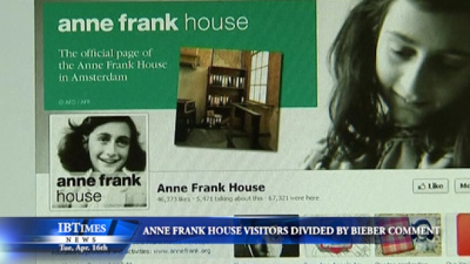 Anne Frank House Visitors Divided By Justin Bieber Comments