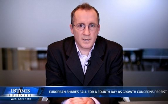European shares fall for a fourth day as growth concerns persist