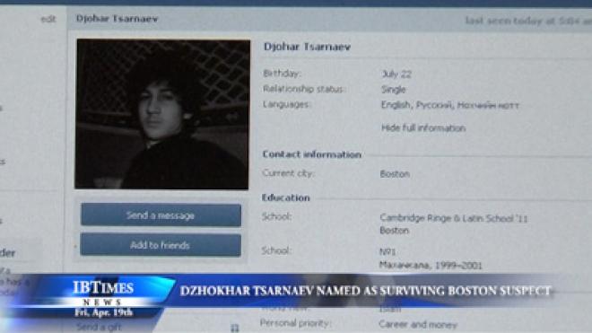 Dzhokhar Tsarnaev Named as Surviving Boston Marathon Suspect