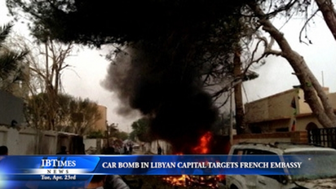 Car Bomb In Libyan Capital Targets French Embassy
