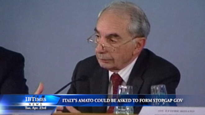 Amato Could Be Person Asked To Form Italy Stopgap Government