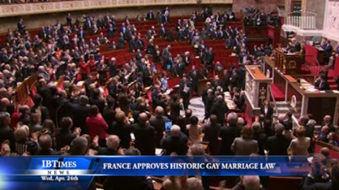 France Approves Historic Gay Marriage Law