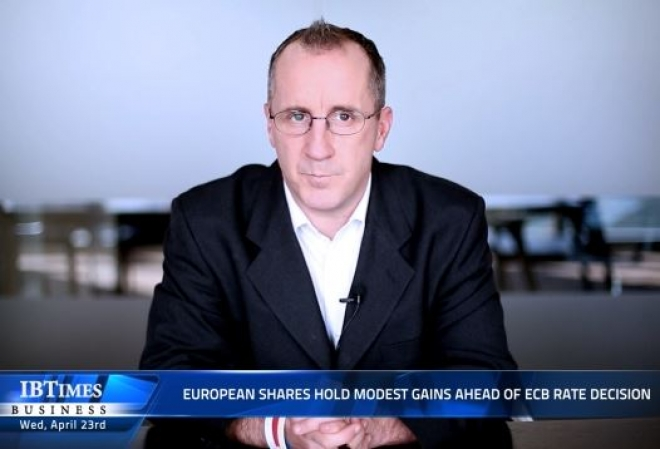 European shares hold modest gains ahead of ECB rate decision