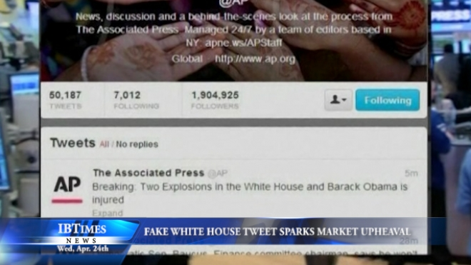 False Tweet Concerning White House Causes Brief Upheaval On Financial Markets
