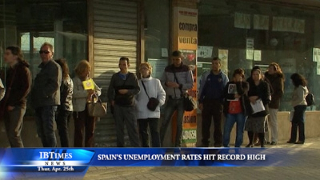 Spain Unemployment Rate Hits Record High