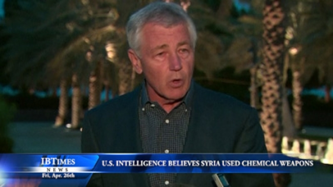 Hagel: U.S. Intelligence Community Believes Syria Used Chemical Weapons