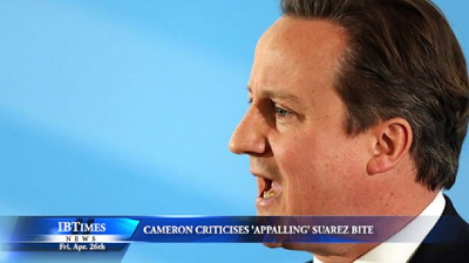 David Cameron criticises appalling Suarez bite