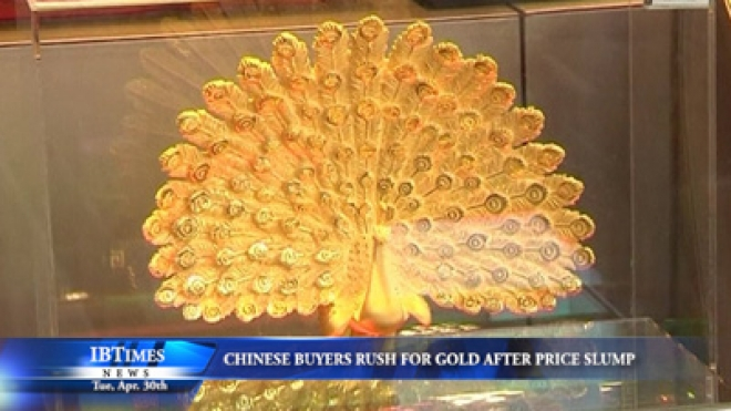 Chinese Buyers Rush For Gold After Slump In Prices