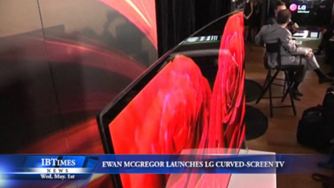 Ewan McGregor Launches The Curved Screen TV In Australia
