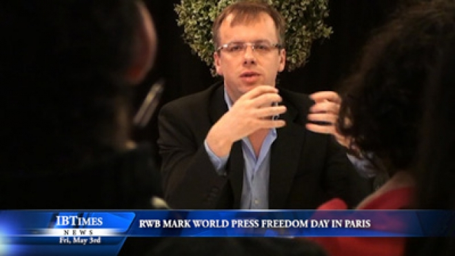 Reporters Without Borders Celebrate World Press Freedom Day In Paris