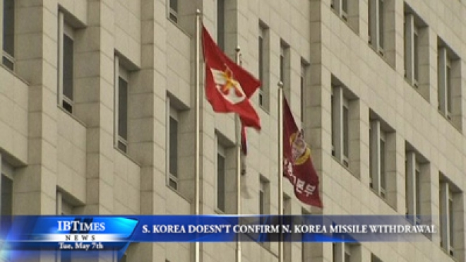 South Korea Does Not Confirm North Korea Missile Withdrawal