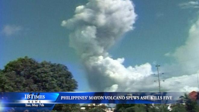 Philippines Mayon Volcano Spews Ash, Killing Five
