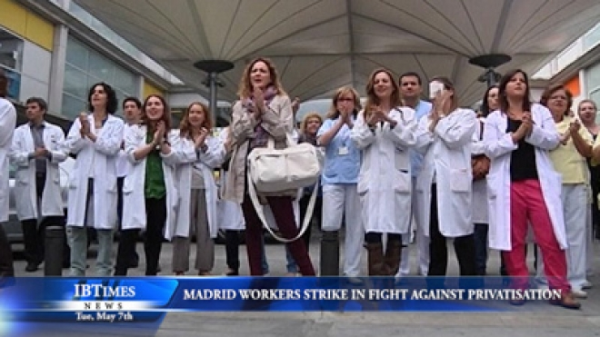 Madrid Health Workers Strike In Fight Against Privatisation