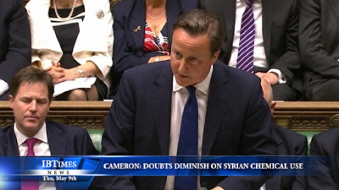 Cameron: Doubts Diminish On Syrian Chemical Weapons Use