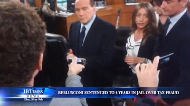 Berlusconi Is Sentenced To 4 Years In Jail Over Tax Fraud