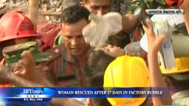 Woman Rescued After 17 Days Trapped In Rubble Of Bangladesh Factory