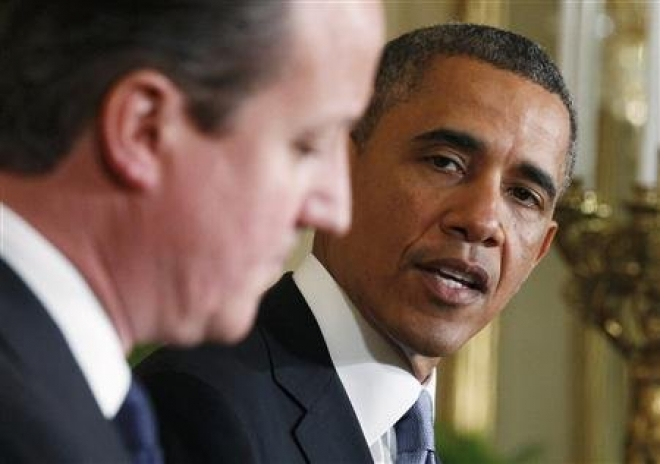 Barack Obama and David Cameron in agreement