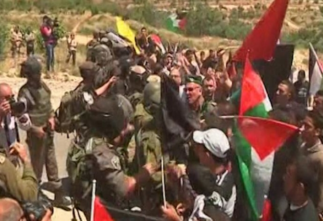 Clashes Erupt during Bethlehem Rally