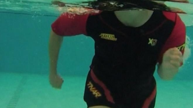 FA Hosts Tests On New-Style Aqua Suit