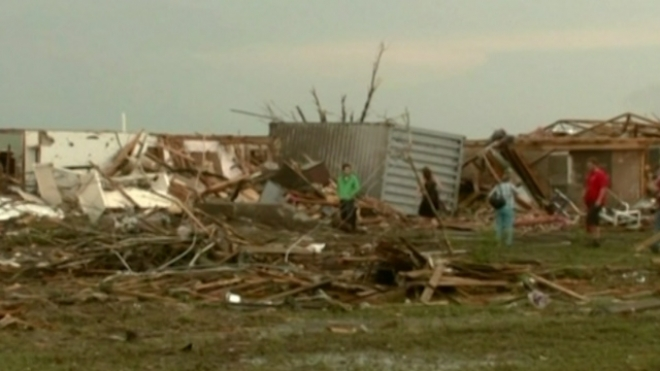 Massive Tornado Tears Through Oklahoma City Suburb