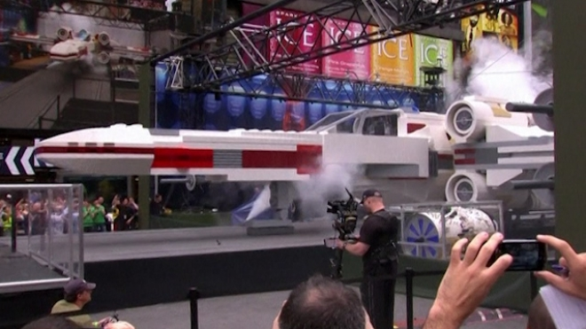Worlds Largest Lego Model Unveiled In Times Square