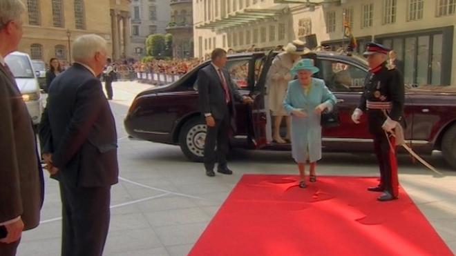 The Queen Officially Opens BBC Broadcasting House