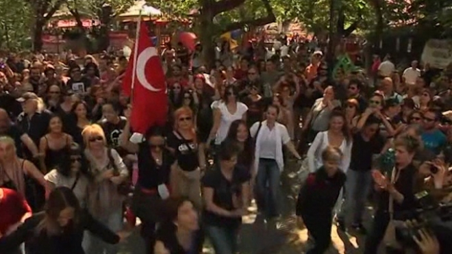 Dance Protest In Ankara Supports Gezi Park Occupation