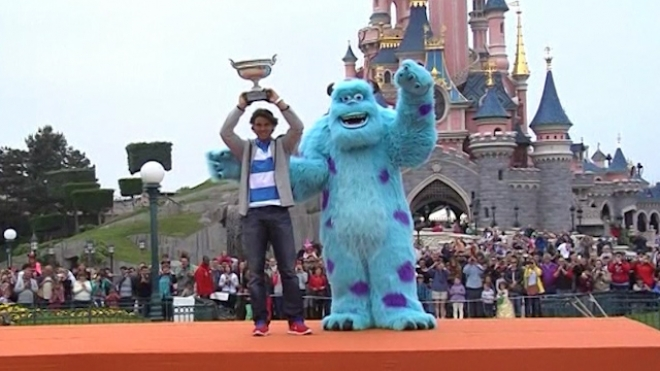 Nadal Celebrates His Eighth French Open Victory At Disney