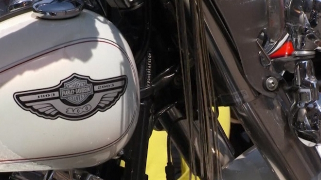Harley-Davidsons Roll Into Rome For Anniversary