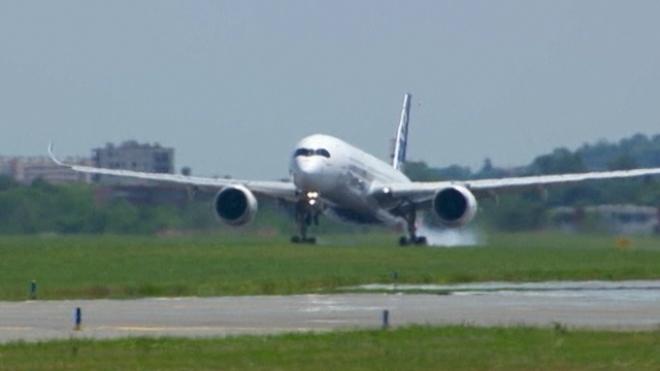 Airbus A350 Aircraft Lands After Maiden Flight