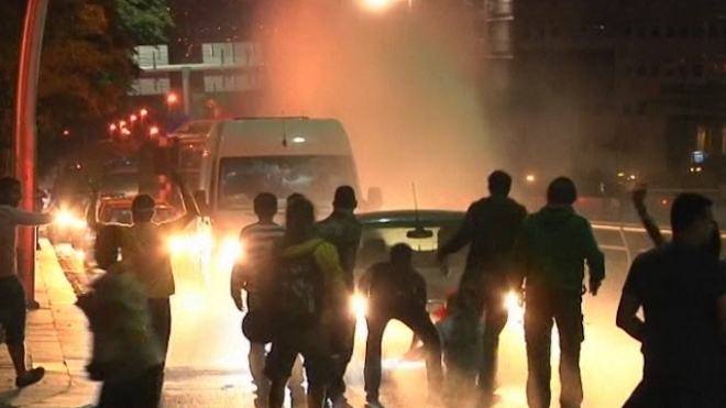Police and Protesters Clash In Ankara