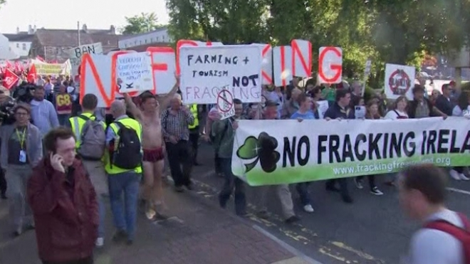 Protesters March On G8 Venue