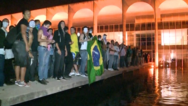 Protesters Attack Brazilian Congress