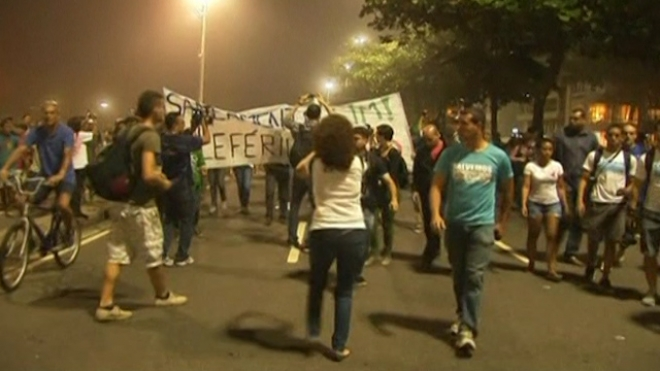 Rio Slums Protest For Education And Health Care