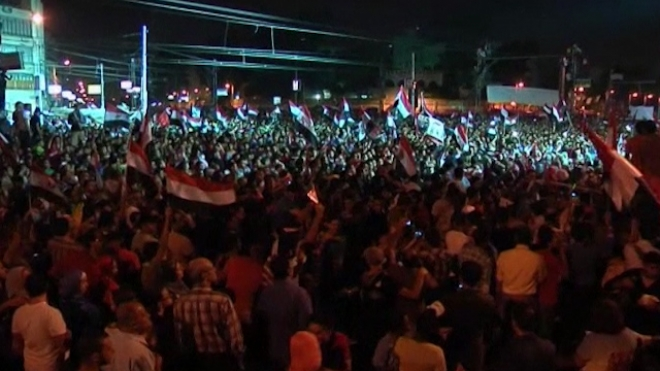 Anti-Mursi Protesters Celebrate Army Ultimatum