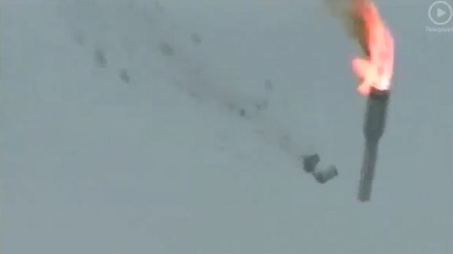 Unmanned Russian Rocket Crashed On Take-Off