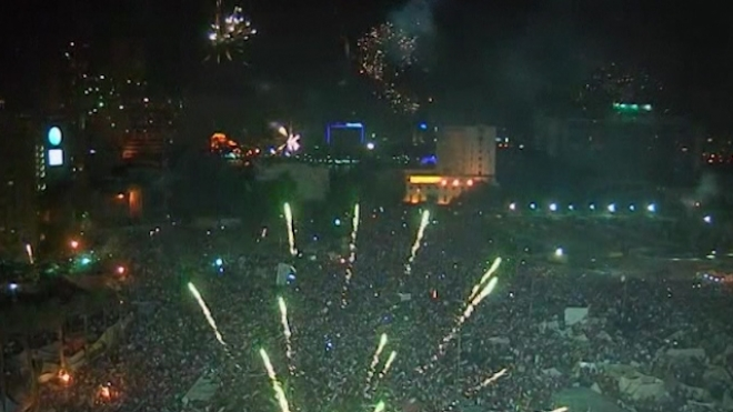 Crowds Celebrate As Mursi Overthrown in Egypt