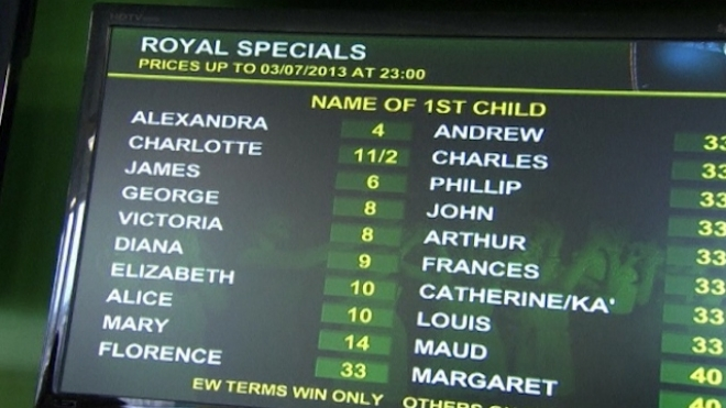 Royal Baby Betting Booming Is On
