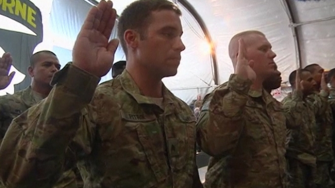 Soldiers In Afghanistan Celebrate Independence Day