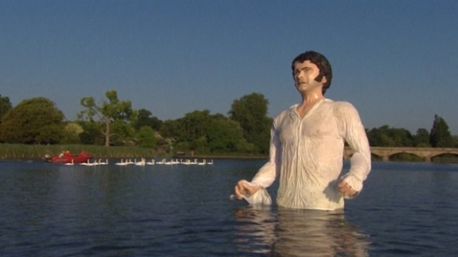 Larger-Than-Life Mr Darcy Emerges From The Serpentine