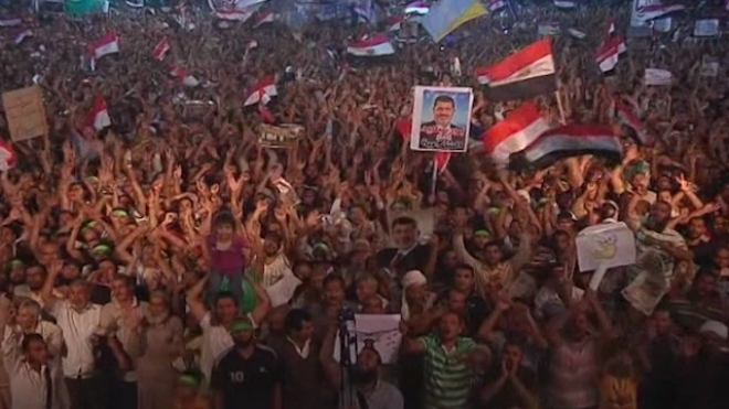 Pro-Morsi Protesters Reject Interim Presidents Speech