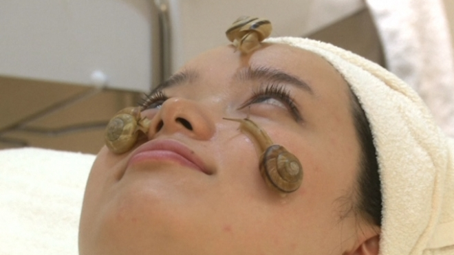 Snail Slime Facial Slithers Out In Tokyo