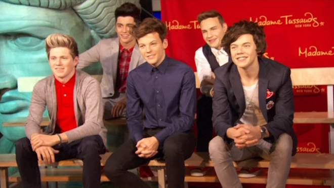 One Direction Wax Figures Make Their U.S. Debut