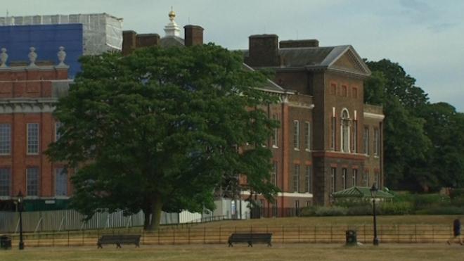 Royal Couple With Baby At Kensington Palace
