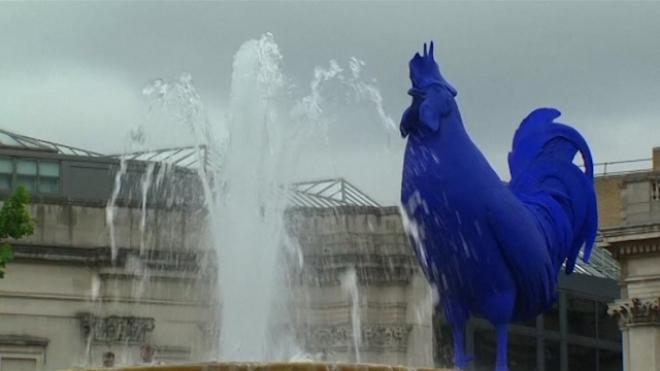 Boris Johnson Unveils 4th Plinth Cockerel