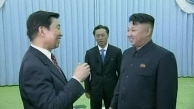 Kim Jong-Un Meets Visiting Chinese Delegation