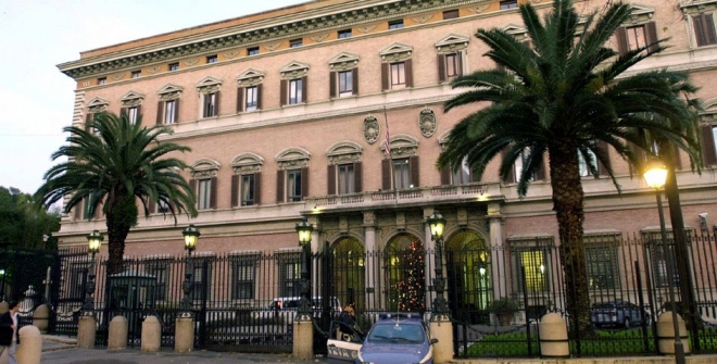 Police Step Up Security Checks Around U.S. Rome Embassy