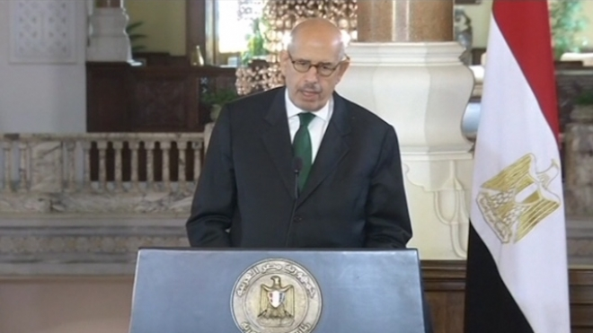 Egypts ElBaradei Quits as Vice-President Over Deaths